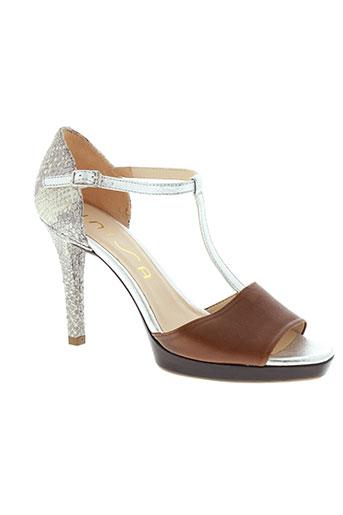 unisa sandales et nu et pieds femme de couleur marron