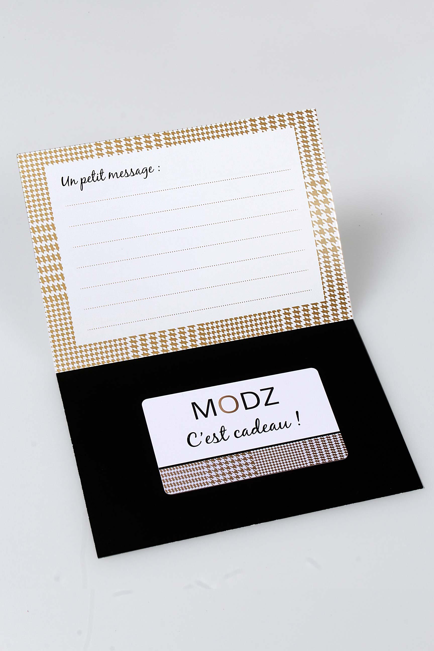 carte cadeau modz autre unisexe de couleur blanc en soldes pas cher 1008542 blanc0 modz. Black Bedroom Furniture Sets. Home Design Ideas