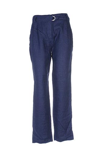 zyga pantalons femme de couleur bleu