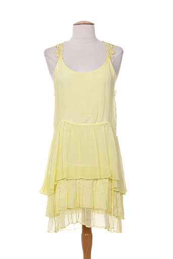 carla giannini robes femme de couleur jaune
