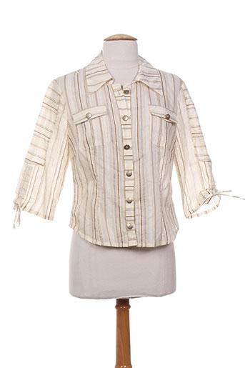 o.k.s chemises femme de couleur beige
