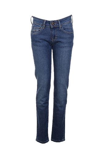 five jeans femme de couleur bleu