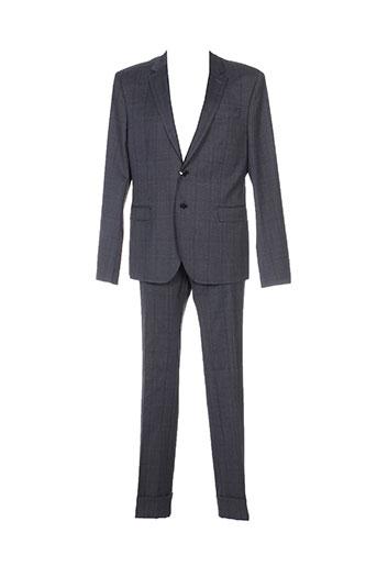 bikkembergs pantalon et veste homme de couleur gris