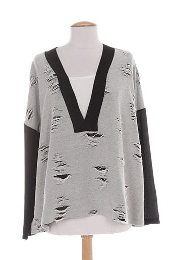 cristina chemises femme de couleur gris