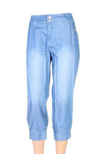 imitz pantacourts femme de couleur bleu