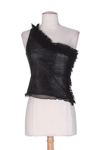 shyde chemises femme de couleur noir
