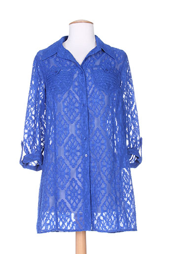 bugarri chemises femme de couleur bleu