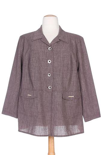 telmail vestes femme de couleur violet