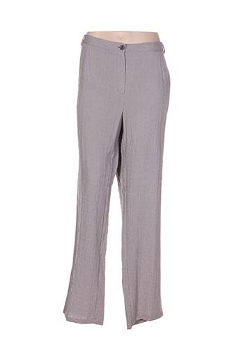 telmail pantalons femme de couleur gris