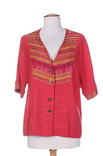 Veste casual rouge CHARLES LORENS pour femme