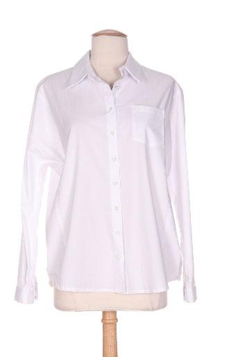 biscote chemises femme de couleur blanc