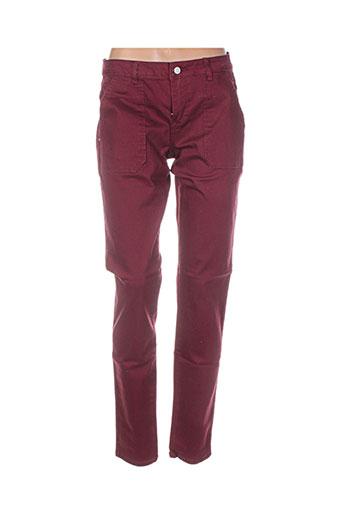 vila pantalons et decontractes femme de couleur rouge