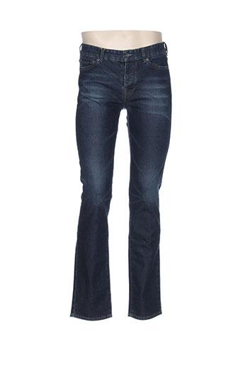 couturist jeans et coupe et droite homme de couleur bleu