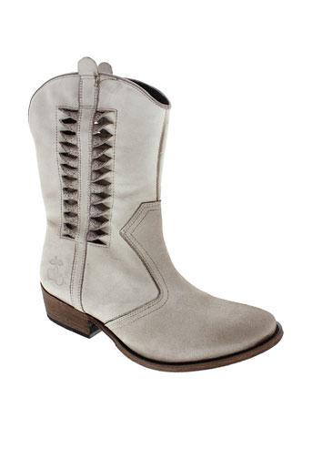 le et temps et des et cerises boots femme de couleur beige