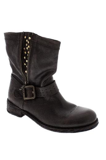 felmini boots femme de couleur marron