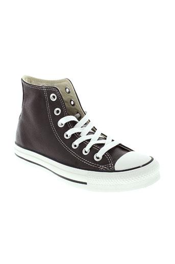 converse chaussures enfant de couleur marron