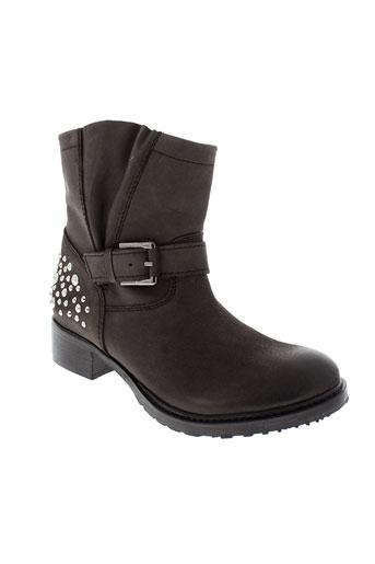 any boots chaussures femme de couleur marron