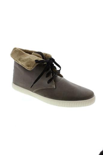 victoria boots homme de couleur gris
