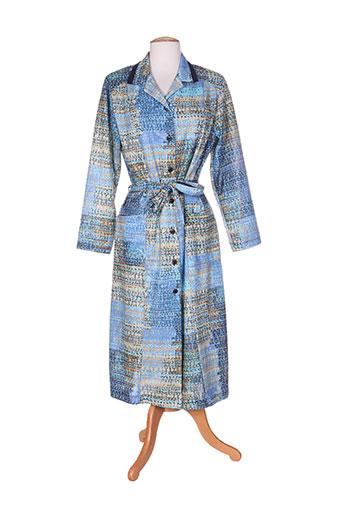 marie de marcille robes femme de couleur bleu