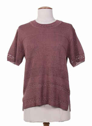 Pull col rond rose ELEANE pour femme