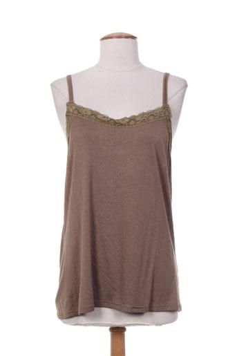sabrina chemises femme de couleur marron