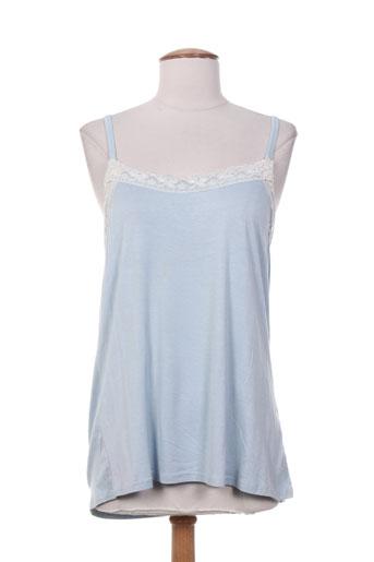 sabrina chemises femme de couleur bleu