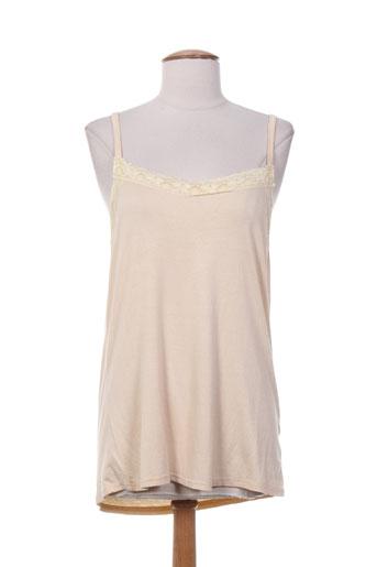 sabrina chemises femme de couleur beige