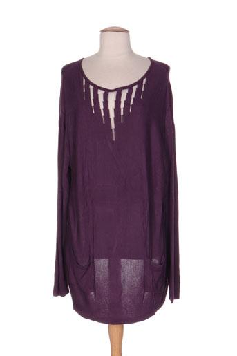 mila cento pulls femme de couleur violet