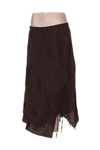 floresse jupes femme de couleur marron