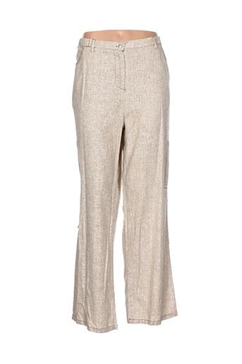 alexo pantalons femme de couleur beige