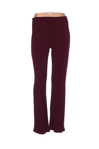 maksim.z pantalons femme de couleur rouge