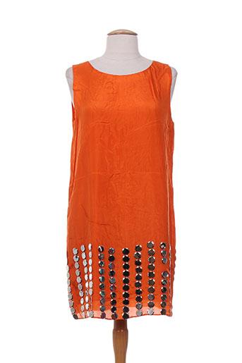 charabia robes femme de couleur orange