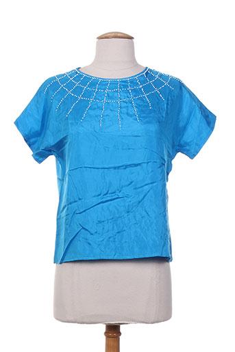 charabia chemises femme de couleur bleu
