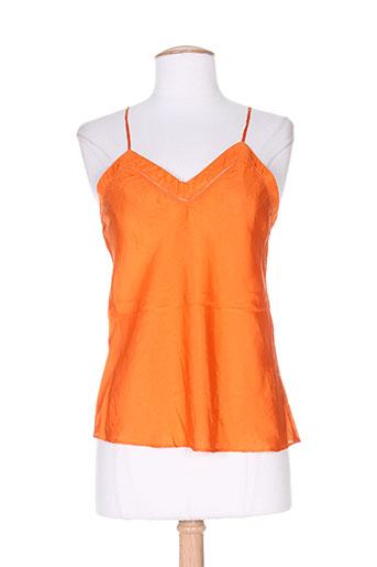 charabia chemises femme de couleur orange