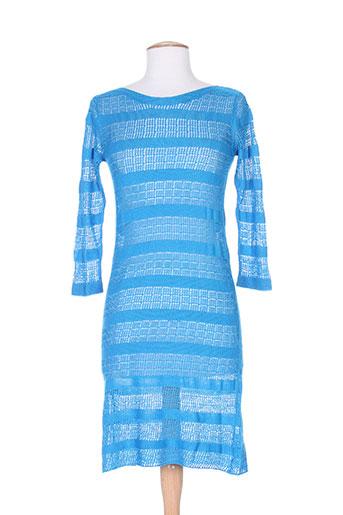Robe pull bleu CHARABIA pour femme