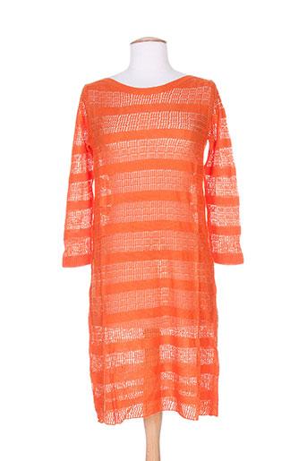 Robe pull orange CHARABIA pour femme