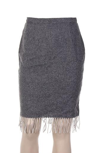 Jupe mi-longue gris CHARABIA pour femme