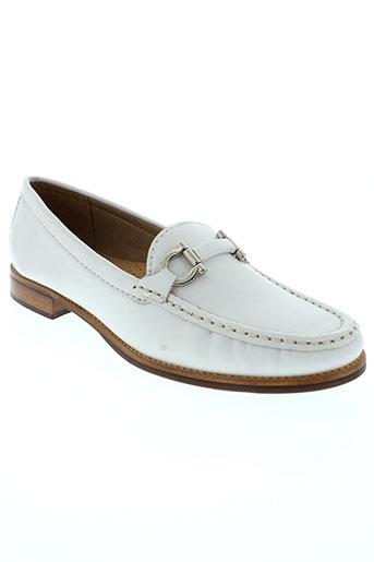 johann mocassins femme de couleur blanc