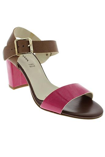 johann sandales et nu et pieds femme de couleur rose