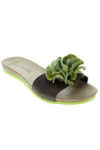 anna fidanza chaussures femme de couleur vert