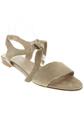 he spring chaussures femme de couleur beige