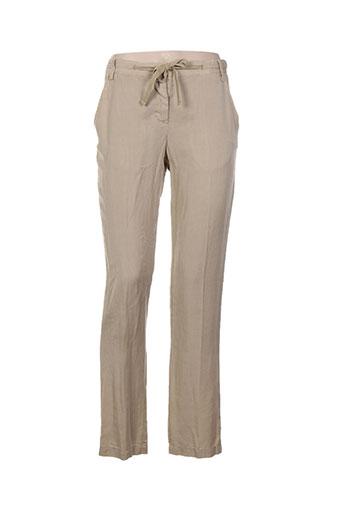 heich pantalons femme de couleur beige