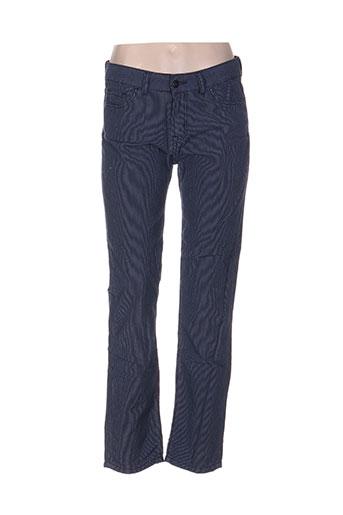 denimood pantalons femme de couleur bleu