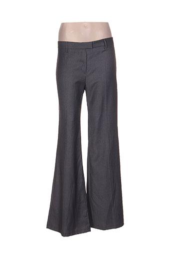 bel air pantalons femme de couleur gris