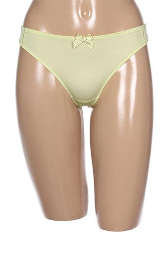 Slip/Culotte vert BARBARA pour femme
