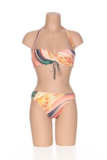 nicole olivier maillots de bain femme de couleur orange