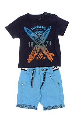 timberland ensemble garçon de couleur bleu