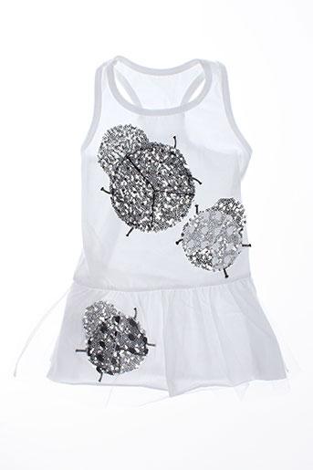 elisabeth puig robes fille de couleur blanc
