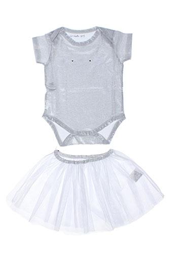 Top/jupe gris ELISABETH PUIG pour fille