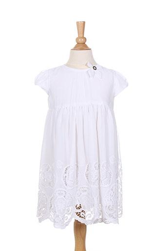 Robe mi-longue blanc TWINSET pour fille